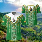 Ethiopia Ethnic Wallpaper All Over Print Polo Shirt