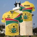 Ghana Strong Coat Of Arms Green All Over Print Polo Shirt