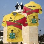 Ghana Strong Coat Of Arms Red All Over Print Polo Shirt