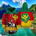 Hawaii King Kamehameha Polynesian All Over Print Hoodies