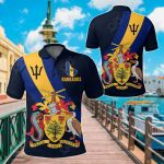 Barbados Special Flag All Over Print Polo Shirt
