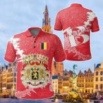 Belgium Christmas Coat Of Arms X Style All Over Print Polo Shirt
