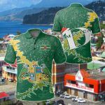Dominica Christmas Coat Of Arms X Style All Over Print Polo Shirt