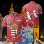 Hungary Christmas Coat Of Arms X Style All Over Print Polo Shirt