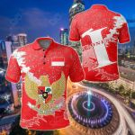 Indonesia Christmas Coat Of Arms X Style All Over Print Polo Shirt