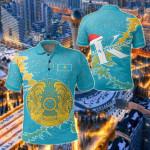 Kazakhstan Christmas Coat Of Arms X Style All Over Print Polo Shirt