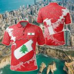 Lebanon Christmas Coat Of Arms X Style All Over Print Polo Shirt