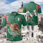 Mexico Christmas Coat Of Arms X Style All Over Print Polo Shirt