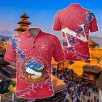 Nepal Christmas Coat Of Arms X Style All Over Print Polo Shirt
