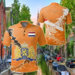 Netherlands Christmas Coat Of Arms X Style All Over Print Polo Shirt