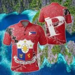 Philippines Christmas Coat Of Arms X Style All Over Print Polo Shirt