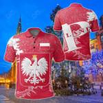 Poland Christmas Coat Of Arms X Style All Over Print Polo Shirt