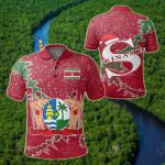 Suriname Christmas Coat Of Arms X Style All Over Print Polo Shirt