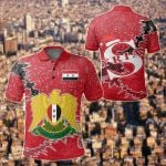 Syria Christmas Coat Of Arms X Style All Over Print Polo Shirt
