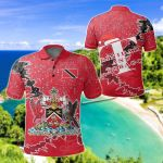 Trinidad and Tobago Christmas Coat Of Arms X Style All Over Print Polo Shirt