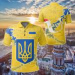 Ukraine Christmas Coat Of Arms X Style All Over Print Polo Shirt