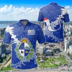 Uruguay Christmas Coat Of Arms X Style All Over Print Polo Shirt