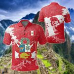 Peru Christmas Coat Of Arms X Style All Over Print Polo Shirt