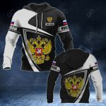 Customize Russia Coat Of Arms - Flag V3 All Over Print Hoodies