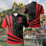 Albania Flag All Over Print Polo Shirt