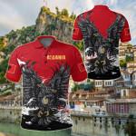 Albania Special Golden Eagle Albanian All Over Print Polo Shirt
