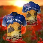 Australia Anzac Day 2020 And Soldier All Over Print Polo Shirt