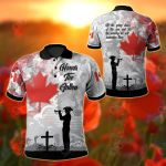 Canada We Will Remember Them All Over Print Polo Shirt
