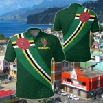 Dominica Special Flag All Over Print Polo Shirt