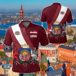Latvia Special Flag All Over Print Polo Shirt