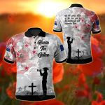 New Zealand Anzac - We Will Remember Them All Over Print Polo Shirt