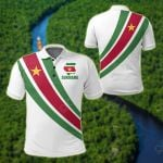 Suriname Special Flag All Over Print Polo Shirt