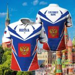 Customize Russia New All Over Print Polo Shirt