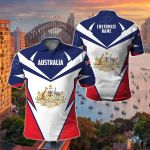 Customize Australia New All Over Print Polo Shirt