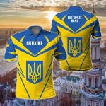 Customize Ukraine New All Over Print Polo Shirt