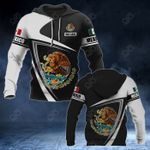 Customize Mexico Coat Of Arms - Flag V3 All Over Print Hoodies