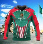 Mexican Army Hexagon Style All Over Print Hoodies