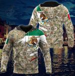 Mexico Army And Coat Of Arms All Over Print Hoodies