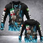 Mexico Skull Fire Style All Over Print Hoodies
