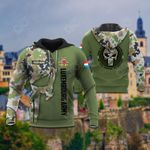 Customize Luxembourg Army Symbol Camo All Over Print Hoodies