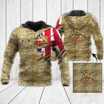Customize British Army Flag & Camo V2 All Over Print Hoodies