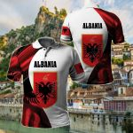 Albania New Release All Over Print Polo Shirt