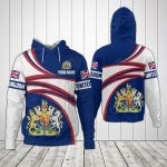 Customize United Kingdom Coat Of Arms - New Design All Over Print Hoodies
