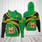 Customize Jamaica Coat Of Arms - New Design All Over Print Hoodies
