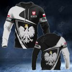 Customize Poland Coat Of Arms - Flag V3 All Over Print Hoodies