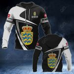 Customize Denmark Coat Of Arms - Flag V3 All Over Print Hoodies