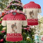 Australia Christmas - Kangaroo Shirt Patterns Merry Christmas All Over Print Polo Shirt