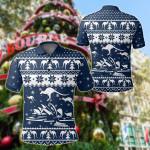 Australia Christmas - Sydney Opera Shirt Kangaroo Symbol Christmas All Over Print Polo Shirt