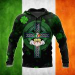 Ireland Cross Celtic All Over Print Shirts