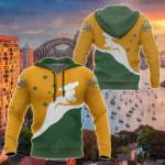 Kangaroo Australian Coat Of Arms All Over Print Hoodies