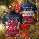 Wales Celtic Christmas - Welsh Dragon Nadolig Llawen Ugly Christmas All Over Print Polo Shirt